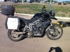 Clean Triumph Tiger XC ... sort of. After a quick jet wash in Aqtobe